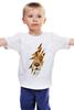 """Детская футболка """"Лев (Lion)"""" - лев, lion, царь зверей, большая кошка"""