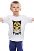 """Детская футболка классическая унисекс """"Миньон Рассомаха"""" - x-men, миньон, гадкий я, despicable me, wolverine, minion, рассомаха, superheroes, mashup"""