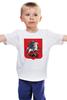 """Детская футболка классическая унисекс """"Москвич"""" - москва, россия, москвич, флаг россии, герб москвы"""