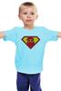 """Детская футболка классическая унисекс """"Beardman"""" - superman, борода, усы, beard, бородачи, отпускаем бороду, усачи, borodachi, mustaches, beardart"""