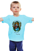 "Детская футболка ""Merry Xmas Everybody"" - арт, стиль, рисунок, fox, лиса, индеец, native american"