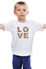"Детская футболка ""LOVE "" - любовь, 14 февраля, valentine's day"