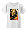 """Детская футболка классическая унисекс """"Боб Марлей (Bob Marley)"""" - регги, боб марли, bob marley, ska"""