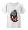"""Детская футболка классическая унисекс """"ковбой"""" - лошадь, horse, cowboy, ковбой, кактус, суслик, gopher"""