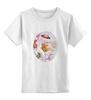 """Детская футболка классическая унисекс """"Пионы и бабочки 2"""" - бабочки, цветы, весна, акварель, пионы"""