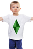 "Детская футболка классическая унисекс ""Кристал (Симс)"" - the sims, симс"