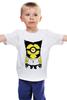 """Детская футболка классическая унисекс """" Росомаха- миньон """" - комиксы, росомаха, marvel, миньоны, minion"""
