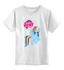"""Детская футболка классическая унисекс """"my little pony girl"""" - детское, для детей, пони, my little pony"""