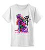 """Детская футболка классическая унисекс """"Неоновый Будда"""" - йога, buddha, будда, yoga"""