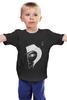 """Детская футболка классическая унисекс """"Человек в шляпе"""" - face, очки, шляпа, inzigen"""