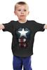 """Детская футболка классическая унисекс """"Капитан Америка"""" - супергерои, marvel, капитан америка, captain america"""