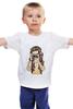 """Детская футболка классическая унисекс """"Девушка с камерой"""" - девушка, романтика, рисунок, фотоаппарат"""