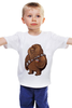 """Детская футболка классическая унисекс """"Fat Chewbacca"""" - star wars, звездные войны, обжорство, чубакка, chewbacca"""
