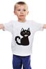 """Детская футболка """"Котенок-охотник"""" - кот, арт, котенок, рисунок, охота"""