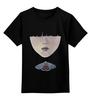 """Детская футболка классическая унисекс """"бабочка II"""" - бабочка, лицо, масло"""