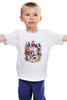 """Детская футболка классическая унисекс """"Череп"""" - skull, авторские майки, черепа"""