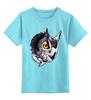 """Детская футболка классическая унисекс """"Owl Gray"""" - взгляд, сова, филин, owl"""