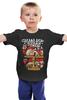 """Детская футболка классическая унисекс """" Сделал дело бухай смело!"""" - алкоголь, новый год, на праздник, дед мороз, санта, праздники, водка, веселые, тренд, новогодние"""