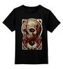 """Детская футболка классическая унисекс """"Art Horror"""" - skull, череп, blood, evil, зло"""