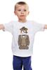 """Детская футболка """"Уважаемый пес"""" - dog, пес, костюм, suit, сигара, cigar"""