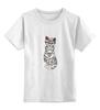 """Детская футболка классическая унисекс """"Gansta cat"""" - кот, арт, cat, девушке, хипстер"""