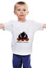 """Детская футболка классическая унисекс """"Игривый доберман"""" - карикатура, doberman, доберман"""
