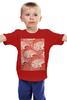 """Детская футболка классическая унисекс """"Абстрактные волны"""" - red, волны, waves, абстрактные волны"""