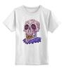 "Детская футболка классическая унисекс ""Zombie art"" - skull, череп, zombie, зомби, арт дизайн"