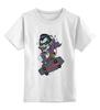 """Детская футболка классическая унисекс """"Дракула на Скейте"""" - skate, dracula"""