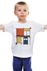 "Детская футболка ""Мондриан"" - арт, доктор кто, мондриан, тардис, mondrian"