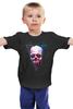"""Детская футболка классическая унисекс """"Вселенная"""" - skull, череп, космос, абстракция, вселенная"""