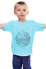 "Детская футболка ""Be global | MONTOK"" - путешествия, montok"