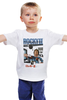 """Детская футболка классическая унисекс """"Rocky / Рокки"""" - иероглифы, сталлоне, рокки, rocky, kinoart"""