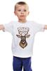 """Детская футболка """"Хранитель снов"""" - голова, животные, дикий, сон, олень, зверь, символ, талисман, ловец снов, рога"""