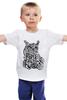 """Детская футболка классическая унисекс """"Сова тату"""" - сова, тату, owl"""