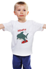 "Детская футболка ""Акула (Baywatch)"" - акула, спасатели малибу, baywatch"