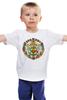 "Детская футболка ""Герб                        "" - россия, герб, путин, кризис, патриотические футболки"