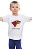 """Детская футболка классическая унисекс """"Iron Wolf (Stark x Iron Man)"""" - волк, железный человек, игра престолов, старки, game of thrones"""