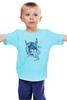 "Детская футболка ""рога"" - девушка, графика, акварель, рога, месяц"
