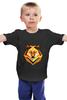 """Детская футболка классическая унисекс """"одинокий волк"""" - мода, волк, минимализм, wolf, lonely, балахон с волком"""