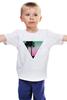 """Детская футболка классическая унисекс """"Miami Triangle"""" - пальмы, miami, майами"""