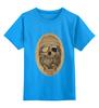 """Детская футболка классическая унисекс """"с черепом"""" - skull, череп, скелет, с черепом, хипстер, пират, hipster, sailor, старый моряк"""
