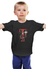"Детская футболка ""Бендер х Дэдпул"" - futurama, бендер, deadpool, дэдпул"