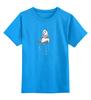 """Детская футболка классическая унисекс """"панда"""" - панда, panda, акварель"""