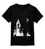 """Детская футболка классическая унисекс """"""""Дедвиль"""""""" - любовь, арт, девушка, night, ночь, луна, moon, deadville"""