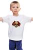 """Детская футболка """"Mrs. Skull"""" - череп, цветы, рисунок"""