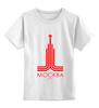 """Детская футболка классическая унисекс """"москва"""" - москва, moscow, olympics"""