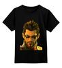 """Детская футболка классическая унисекс """"Deus Ex"""" - адам дженсен, deus ex, рпг"""