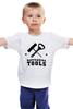"""Детская футболка классическая унисекс """"Набор Бармена (Открывашки)"""" - алкоголь, пиво, вино, бармен, bartender"""