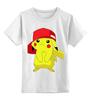 """Детская футболка классическая унисекс """"Пикачу"""" - фильмы, мульт, покемон, пикачу"""
